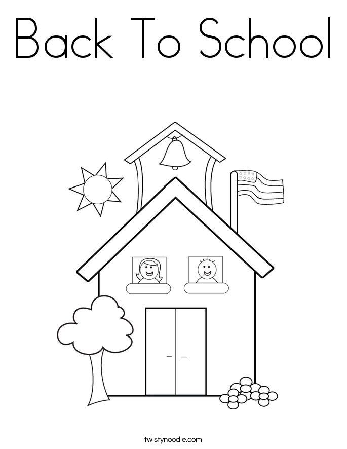 Back To School Coloring Page - Twisty Noodle