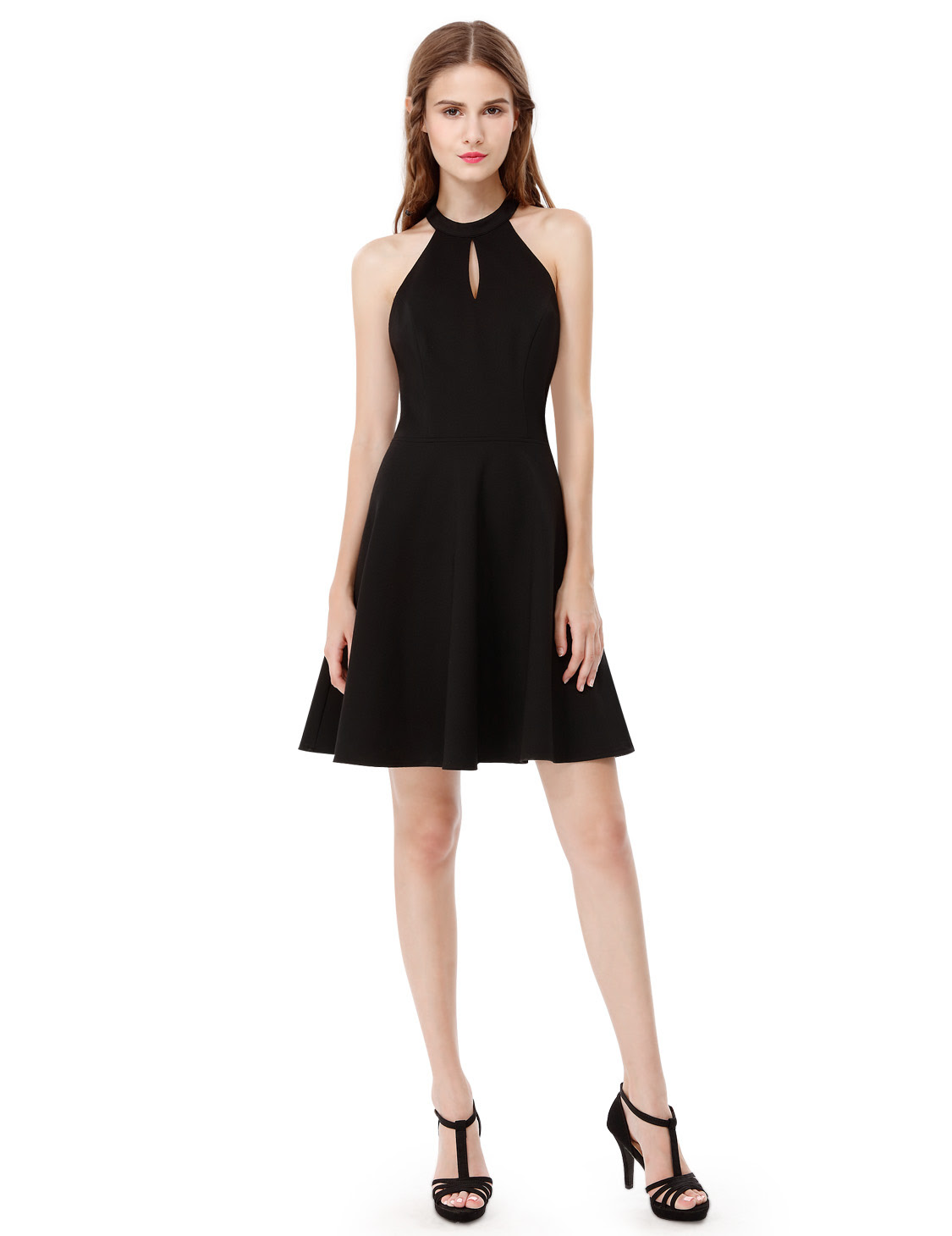 women's short black sexy halter sleeveless casual summer