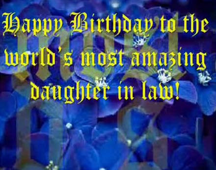 Amazing Daughter In Law Free Extended Family Ecards Greeting Cards