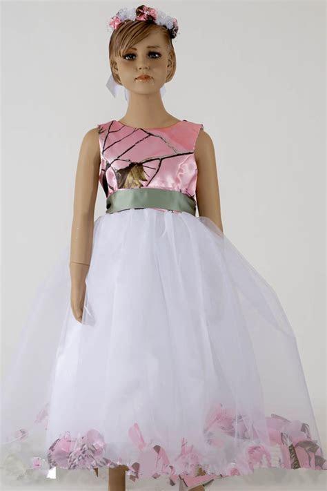 Pink Camo Dresses For Little Girls Ball Gowns Flower Girls