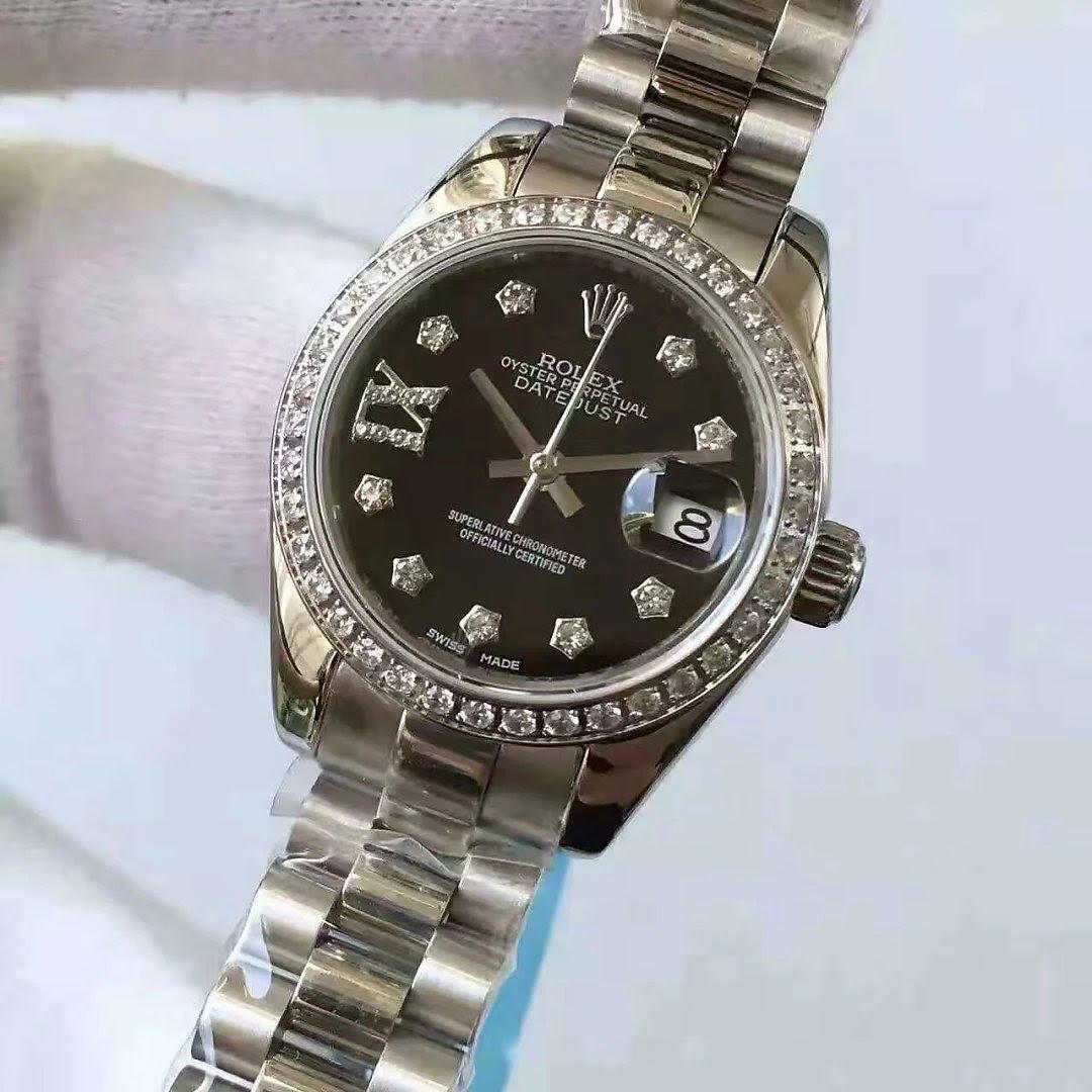 Replica Rolex Lady Datejust 33mm Diamond Watch