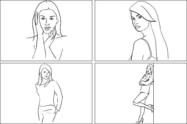 Позы для женского портрета