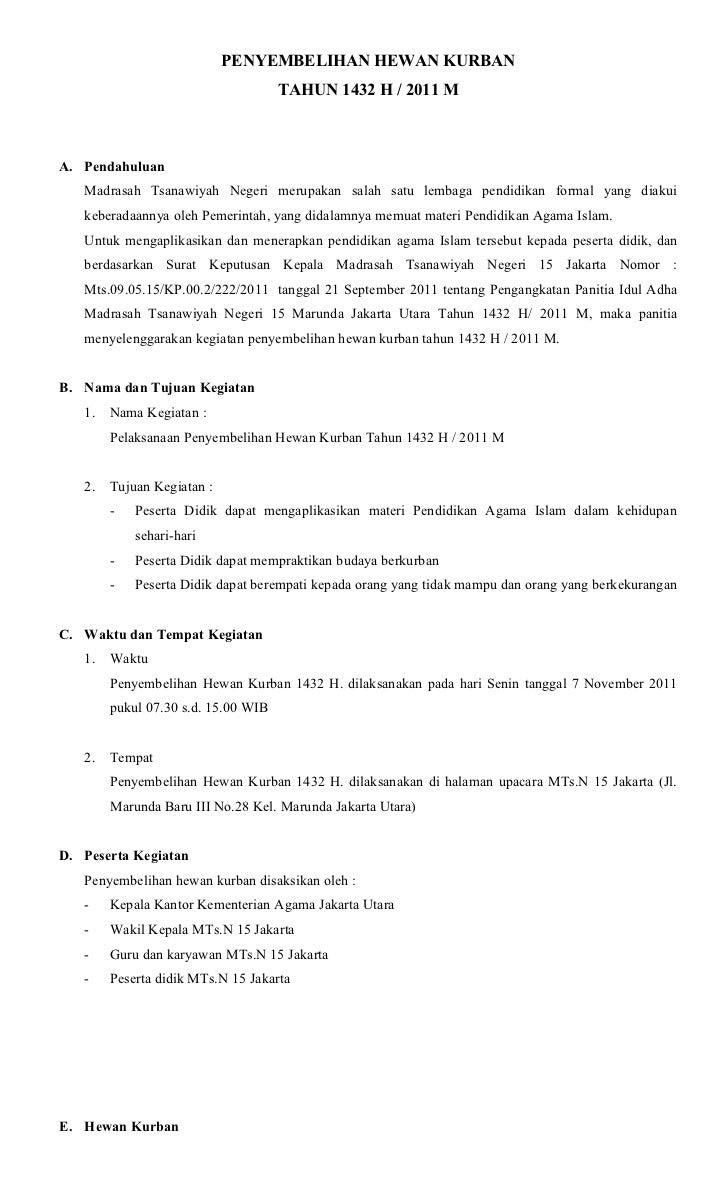 Contoh Surat Edaran Qurban Di Masjid