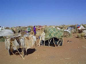 English: Picture of IDP camp in Sudan resultin...