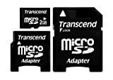 Transcend 2GB microSDw/2adapter(mini&SD) TS2GUSD-2
