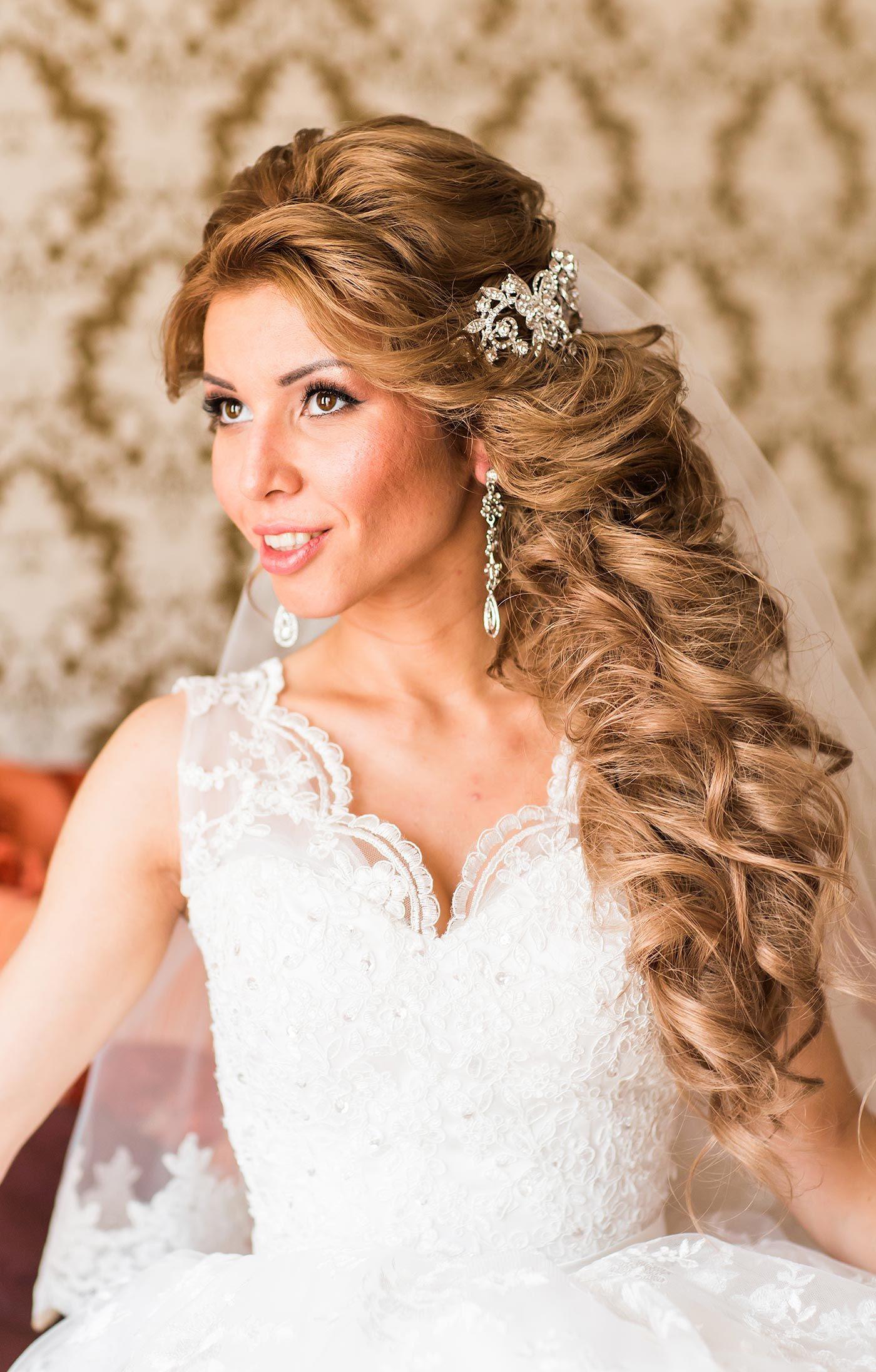 Brautfrisur Seitlich Geflochten Frisuren Hochzeit Lange Haare