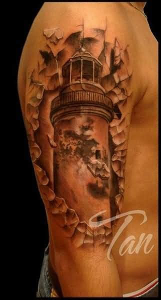 lighthouse tattoo images designs