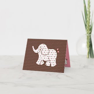 Baby Elephant Thank You Card card