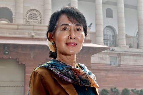 La líder opositora birmana durante una visita a la India.| Reuters | B. Mathur