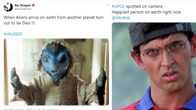 'Happiest person on Earth right now is Hrithik Roshan': Netizens can't keep calm after Pentagon releases UFO videos