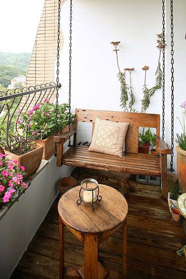 tiny balcony furniture 16 15 Smart Balcony Garden Ideas That are Awesome