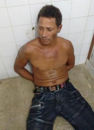 Arlindo foi preso pela PM (Foto: Ubatã Notícias)