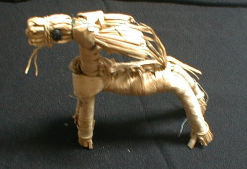 わら細工の馬