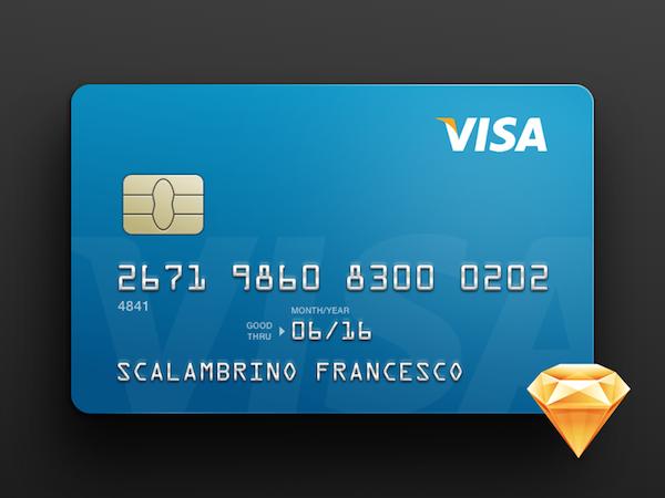 Free Credit Card Template (Sketch) | Psdblast