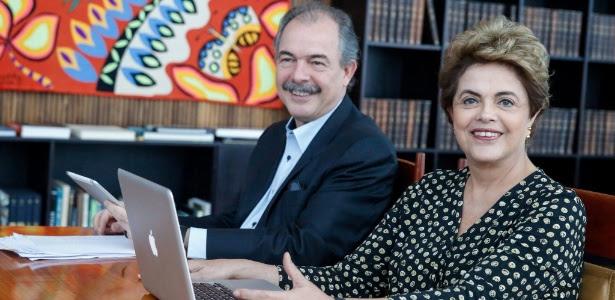 Dilma falou com internautas nesta quarta-feira (25) ao lado do ex-ministro Aloizio Mercadante