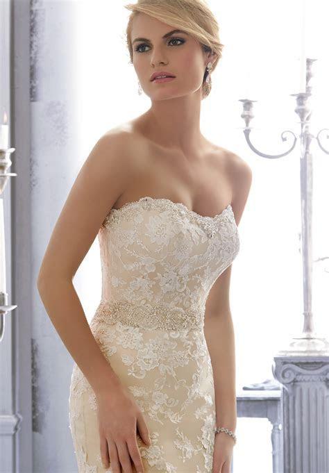 Morilee Bridal Rich Beaded Satin Sash   Style 11061   Morilee