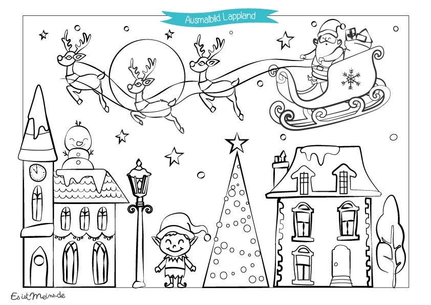 ausmalbilder gratis malvorlagen weihnachten kostenlos