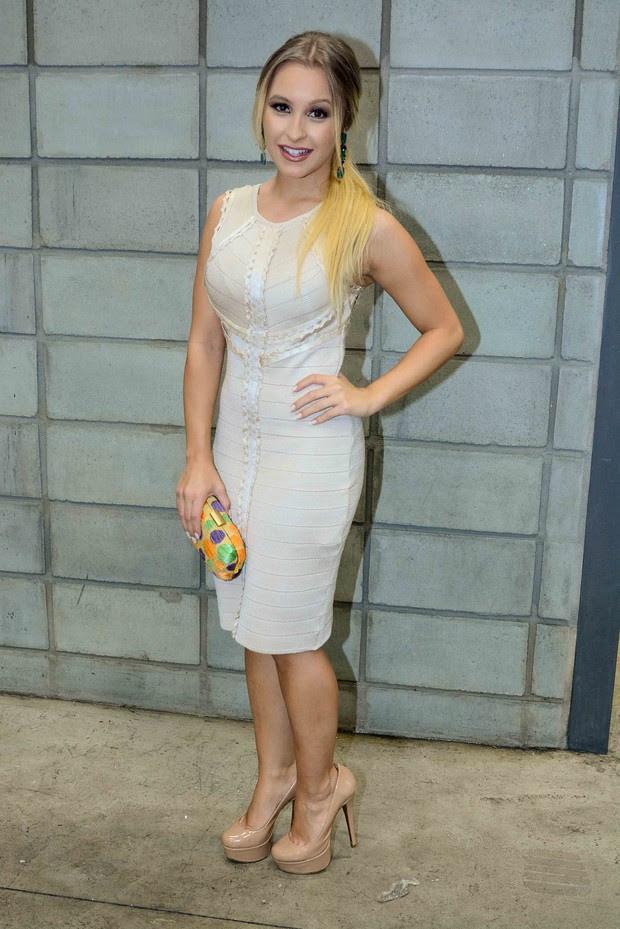 Carla Diaz no SPFW (Foto: Leo Franco / AgNews)