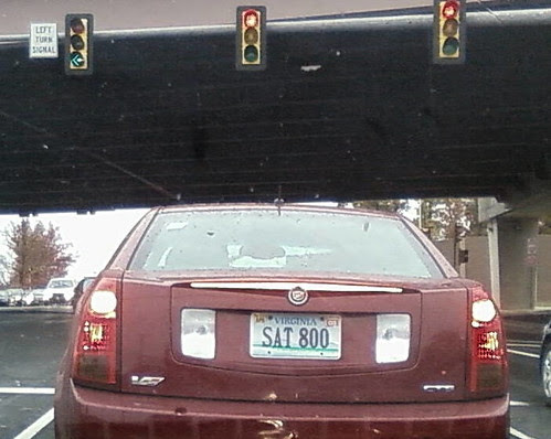 SAT 800 Virginia vanity license plate