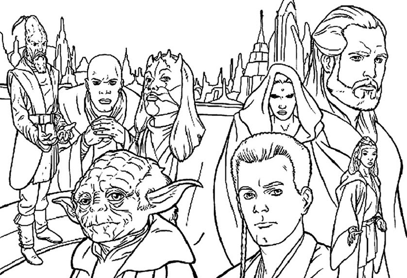 Coloriage Star Wars 1 Coloriage A Imprimer Az Coloriage