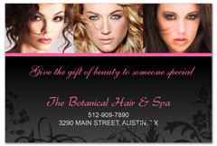 PCS-1055 - salon postcard flyer