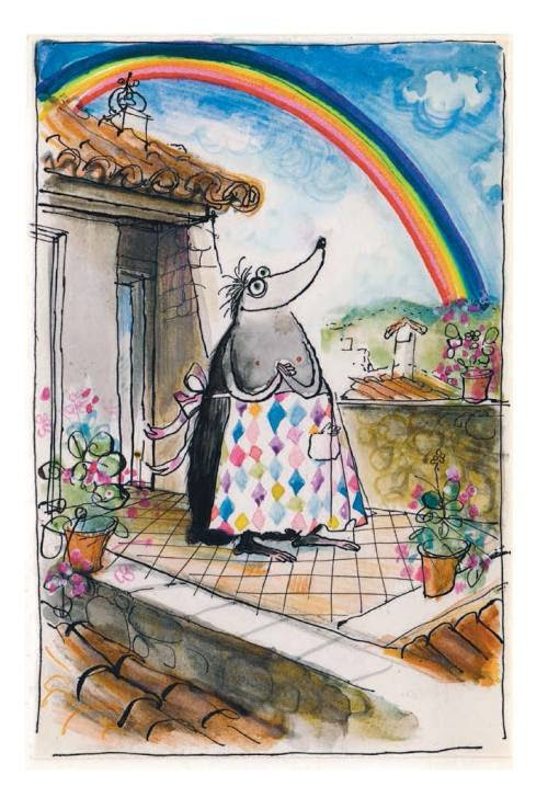 Les Tres Riches Heures de Mrs Mole by Ronald Searle, published by Blue Door, today. #1 of Blue Door's top five illustrations