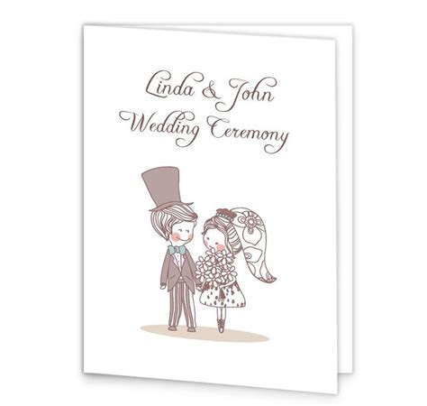 Cute Couple Wedding Mass Booklet Cover   Loving Invitations