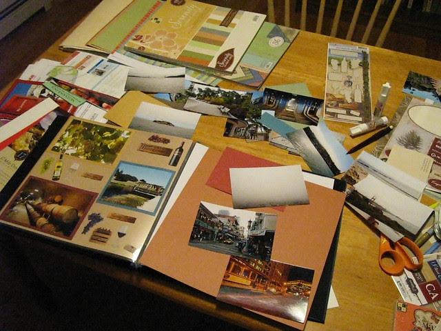Scrapbook mess