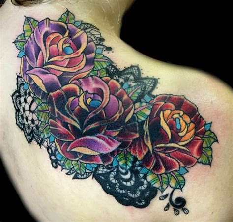 rose lace tattoos cool tattoos lace art