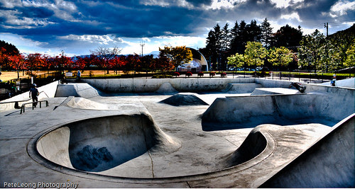 The new Fukushima skate park in HDR