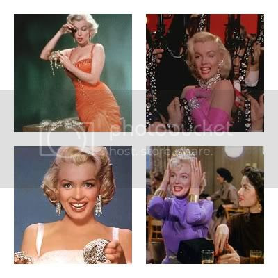 Marilyn Monroe full color hair and fashion