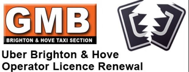 Letter To Taxi Leaks : Uber Breach Of Data : Andrew Peters Secretary GMB Brighton & Hove Taxi Section