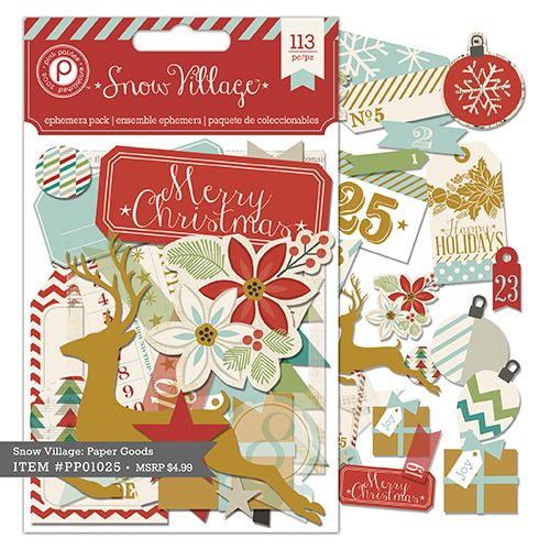 Snow Village Ephemera (vellum & paper bits) $4.99