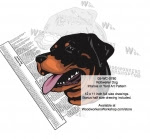 Rottweiler Dog Intarsia - Yard Art Woodworking Pattern - fee plans from WoodworkersWorkshop® Online Store - Rottweiler Dogs,pets,animals,dogs,breeds,instarsia,yard art,painting wood crafts,scrollsawing patterns,drawings,plywood,plywoodworking plans,woodworkers projects,workshop blueprints