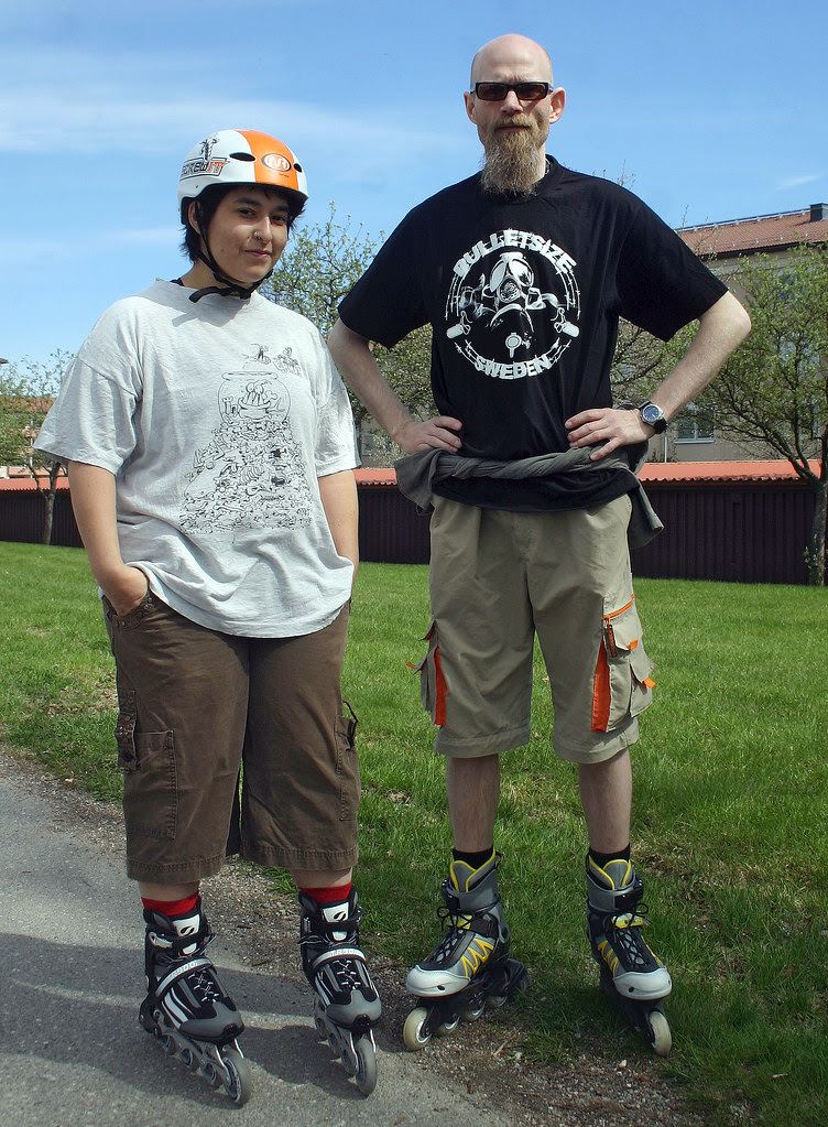 The Rollerblading Couple