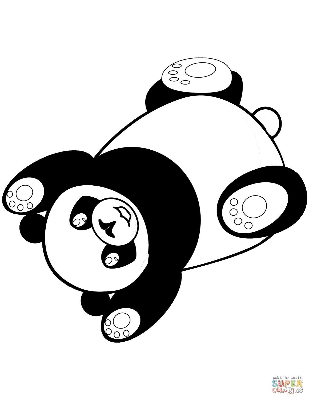 Disegno Di Panda Che Si Sdraia Da Colorare Disegni Da Colorare E