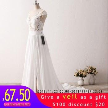 Wedding Dress Sodigne New Fashion Lace Applique Mermaid Nude Back
