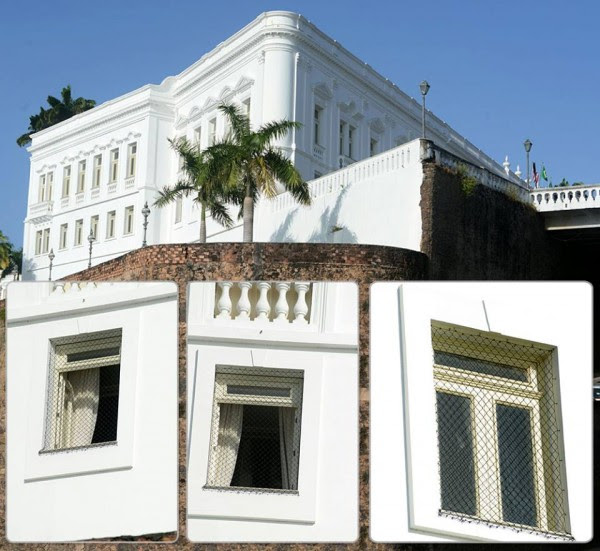 Palácio dos Leões agora tem telas nas janelas