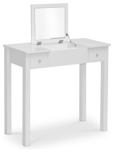 White Wessex Vanity Table - Contemporary - Bedroom ...