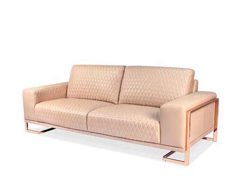 gold leather sofa american eagle ae rg sf rose gold