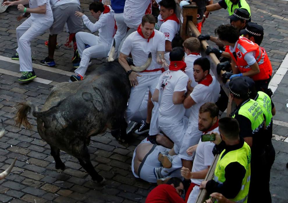 Бігу биків в іспанській Памплоні