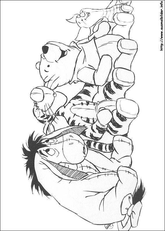 Großzügig Winnie The Pooh Zeichen Malvorlagen Fotos - Framing ...