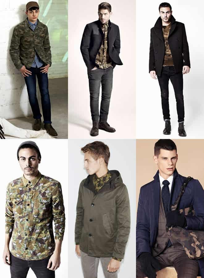 Men's Camouflage Print Lookbook