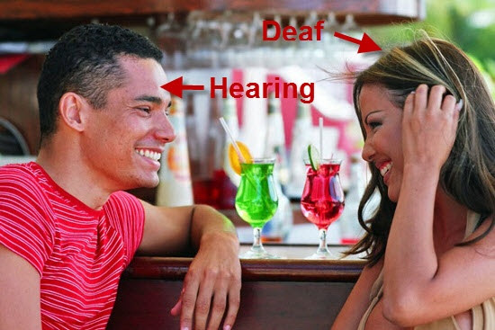 Image result for Deaf-hearing love