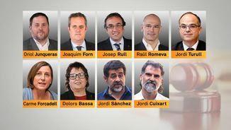 Els 9 polítics independentistes empresonats