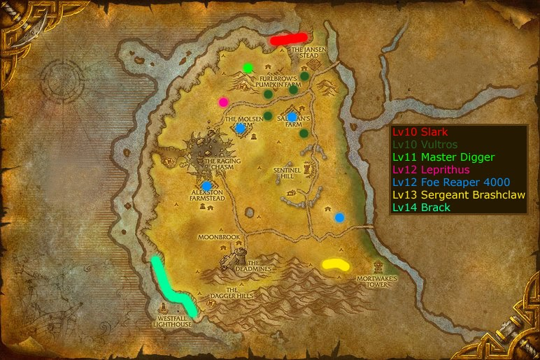 Warcraft rares westfall for West fall