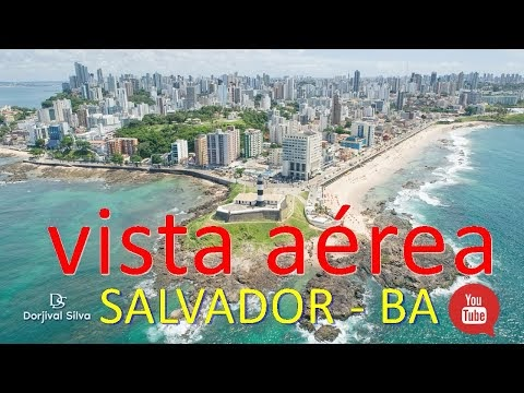 Vista aérea de Salvador, capital do estado da Bahia