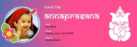 Free Annaprasana invitation with India?s #1 online tool
