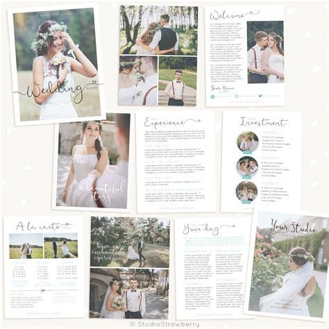 Wedding Photography Magazine Template   Strawberry Kit