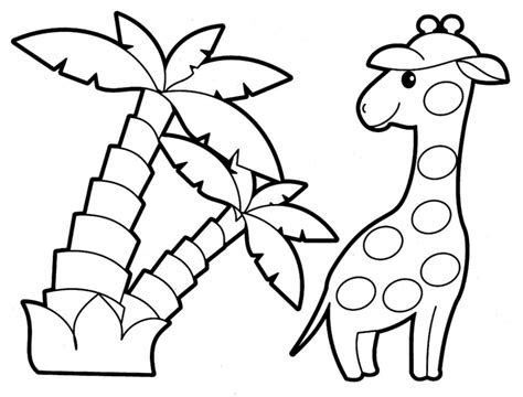 easy printable animals coloring pages
